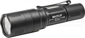 SureFire EB1C-B Backup Dual-Output LED Click Switch Flashlight No Shroud, Black, 200 Max Lumens