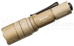 SureFire EB1T-A Backup Dual-Output LED Tactical Switch Flashlight, Desert Tan, 200 Max Lumens