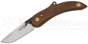 Svord Peasant Folding Knife 3 inch Carbon Steel Blade, Brown Wood Handles