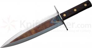 Svord HB Hog Beater 11-1/4 inch Double Edge Carbon Steel Blade, Wood Handles, Leather Sheath