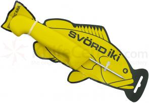 Svord Kiwi IKI Fish Spike 3 inch Carbon Steel, Yellow Polypropylene Handle