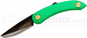 Svord PKM Peasant Mini Folding Knife 2.5 inch Carbon Steel Blade, Green Zytel Handles