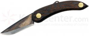 Svord PKM Peasant Mini Folding Knife 2.5 inch Carbon Steel Blade, Wenge Wood Handles