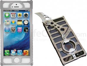 TactiCall Alpha 1 iPhone 5 Aluminum Case, Polished Silver