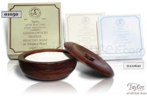 Taylor of Old Bond Street Sandalwood Shave Soap Refill in Wooden Bowl 100g (3.5 oz)