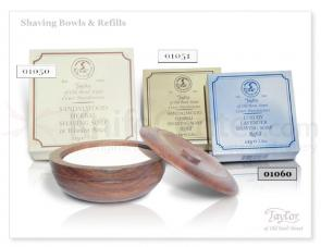 Taylor of Old Bond Street Lavender Shave Soap Refill 100g (3.5 oz) Wood Bowl Not Included