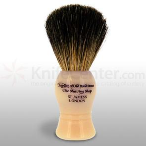 Taylor of Old Bond Street P1020 Pure Badger 9.5 cm Small Shaving Brush, Faux Ivory Handle