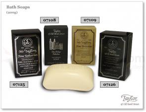 Taylor of Old Bond Street Mr Taylors Gentleman's Pure Vegetable Bath Soap Savon Pour Homme Aux Pures Huiles Vegetaux 7 oz (200g)