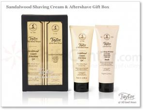 Taylor of Old Bond Street Luxury Sandalwood Shaving Cream and Aftershave Gift Box