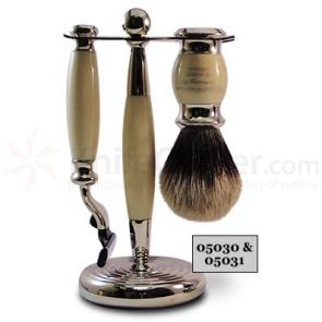 Taylor of Old Bond Street Super Badger Mach3 Imitation Ivory Edwardian Shave Set in Gift Box
