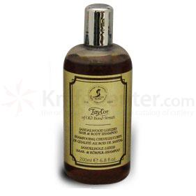 Taylor of Old Bond Street Sandalwood Luxury Hair and Body Shampoo 6.8 oz (200ml)