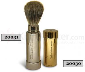 Taylor of Old Bond Street Pure Badger Nickel Travel Shaving Brush with Travel Case