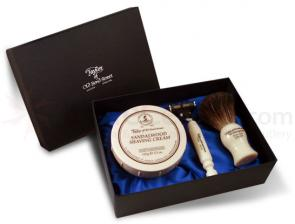 Taylor of Old Bond Street Satin Gift Box Sandalwood Shave Set