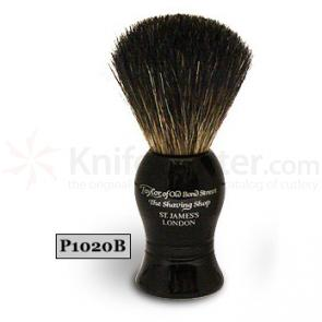 Taylor of Old Bond Street P1020B Pure Badger Shaving Brush, Black, Ideal for Beginners