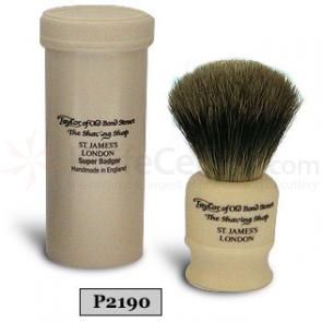Taylor of Old Bond Street P2190 Pure Badger Travel Shaving Brush with Travel Case