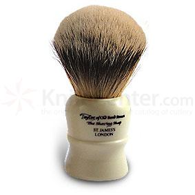 Taylor of Old Bond Street S41 Super Silvertip Badger Shaving Brush, Extra Large (11cm), Bulbous Shaped Handle