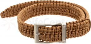 Timberline Paracord Survival Belt, Coyote, Medium (5106)