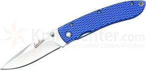 Javelin by Timberline Everyday Carry Folding 2.6 inch Blade, Blue Aluminum Handles
