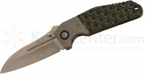 Tim Britton Knives Custom Boomer Folding 3.5 inch S35VN Sheepsfoot Blade, Honeycomb Pattern G10 Handle