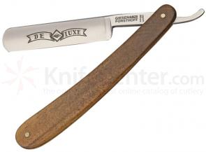 Timor Straight Razor, 5/8 inch Carbon Steel Blade, Walnut Wood Handles