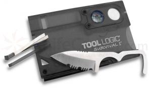 Tool Logic® Survival I™ Charcoal Ultra Slim Card Tool with Compass & 8x Power Lens