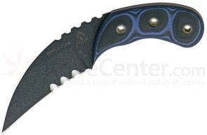 TOPS Knives Devil's Claw 3 inch Blade, Blue and Black G10 Handles