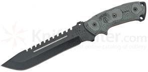 TOPS Knives Steel Eagle 107C Fixed 7 inch 1095 Carbon Drop Point Blade, Micarta Handle, Nylon Sheath