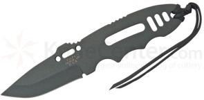 TOPS Knives CAT 201 Covert Anti-Terrorism 3-1/4 inch 1095 Carbon Spear Point Blade, Skeletonized Handle, Kydex Sheath