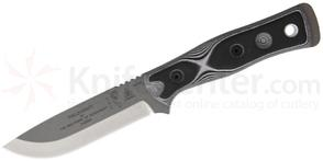 TOPS Knives BOB Brothers of Bushcraft Fieldcraft Fixed 4.75 inch 154CM Blade, Black/White G10 Handles