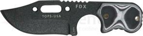 TOPS Knives FDX Field Duty Extreme 3 inch Hunter Point Blade with Black and White G-10 Handles
