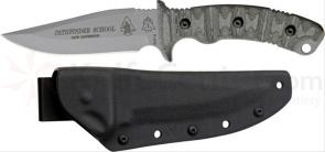 TOPS Knives Pathfinder School Knife Fixed 4 inch Carbon Steel Blade, Micarta Handles