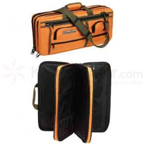 The Ultimate Edge EDOR Deluxe 18 Piece Knife Case, 5 Exterior Pockets, Orange