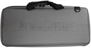 The Ultimate Edge 2001-EHG Deluxe 18 Piece Knife Case, Hard Sides, Gray