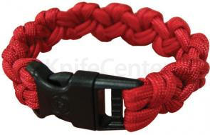 UST Ultimate Survival 550 Paracord Survival Bracelet with Basic Clasp, Red (20-295-354-B4)