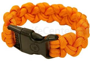 UST Ultimate Survival 550 Paracord Survival Bracelet with Basic Clasp, Orange (20-295-354-N18)