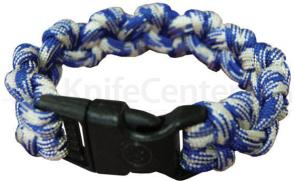 UST Ultimate Survival 550 Paracord Survival Bracelet with Basic Clasp, Blue Camo (20-295-354-N1)