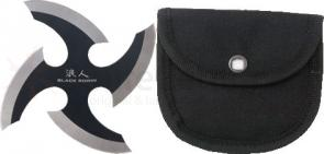 United Cutlery Black Ronin Black Throwing Star 3-1/2 inch Body