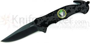 United Cutlery SOA Accelerator Folder Assisted 3-1/4 inch Blade, Black Handles, Window Breaker, Seatbelt Cutter