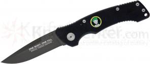 United Cutlery One Shot One Kill SOA Assisted 3 inch Black Blade, G10 Handles