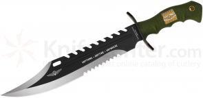 United Cutlery Marine Force Recon Sawback Bowie 11-1/2 inch Blade, Rubber Handles (UC2863)