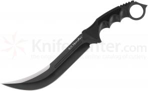 United Cutlery Honshu Black Aizu Ring Fighter 7-5/8 inch Blade, Injection-Molded Handle (UC3010B)