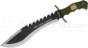 United Cutlery USMC Kukri Machete 11-1/2 inch Blade, Rubberized Handle (UC3011)