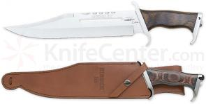 Gil Hibben III Bowie Knife 11 inch Blade and Leather Sheath