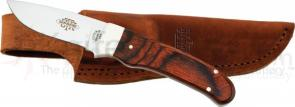 Utica Adirondack Hunting Knife Fixed 3-5/8 inch 420 Stainless Blade, Cocobola Wood Handles