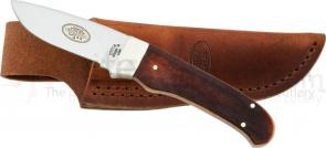 Utica Catskill Hunting Knife Fixed 2-3/4 inch 1095 Carbon Steel Blade, Brown Bone Handles