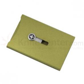 Wagner Swiss Wallet Anodized Aluminum, Money Clip, Green