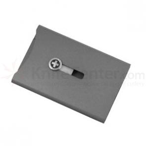Wagner Swiss Wallet Anodized Aluminum, Money Clip, Metallic Silver