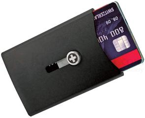 Wagner Super Slim Swiss Wallet with Money Clip, Black Anodized Aluminum