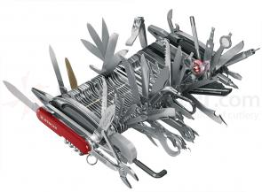 Wenger Swiss Army 16999 Giant Knife, 87 Implements / 141 Functions