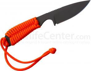 White River Knives Backpacker Fixed 3.25 inch S30V Black ionbond Blade, Orange Paracord Handle, Kydex Sheath